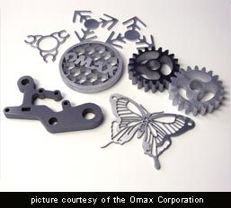 waterjet cuts provided by Omax