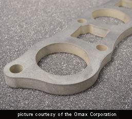 Material cut by Omax waterjet machine